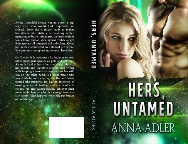 Hers, Untamed paperback cover art
