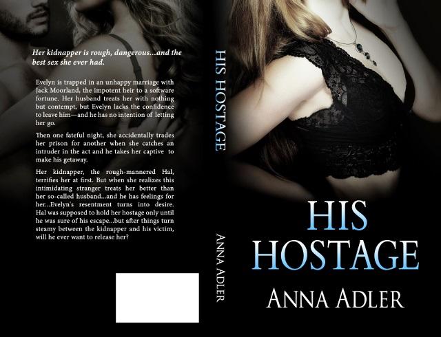His Hostage paperback cover design